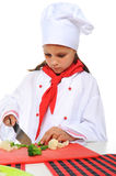 Little Chef in uniform. Stock Photography