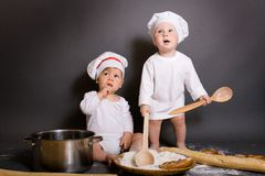 Little Chefs Stock Photos