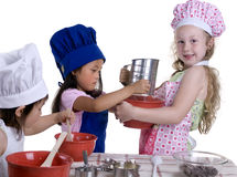 Little Chefs Royalty Free Stock Images