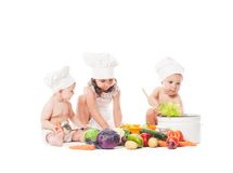 Little chefs cook Royalty Free Stock Photography