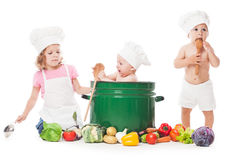 Little chefs cook Royalty Free Stock Photo