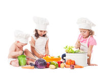 Little chefs cook Stock Photography