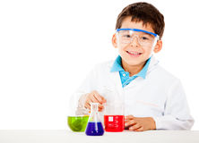 Little chemist Royalty Free Stock Images