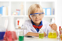 Little chemist Stock Photo