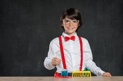 Little chemist Royalty Free Stock Image