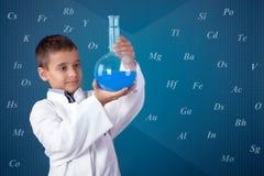 Little chemist Royalty Free Stock Photos