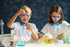Little chemists stock image