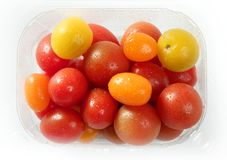 Little cherry varied multi color tomatoes Stock Images
