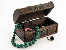 Little chest and ornament. Object isolated royalty free stock images