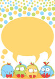 Little chick birds with bubble speech Royalty Free Stock Photo