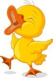 Little chick cartoon presenting Stock Photo