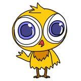 Little chicken with big eye Stock Illustration