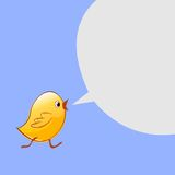 Little chicken goes and talks. Vector design Stock Image