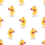 Little chickens seamless pattern Stock Image