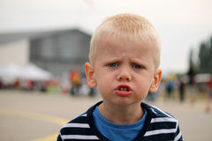 Little child is angry Royalty Free Stock Image