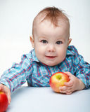 Little child with apple Royalty Free Stock Image