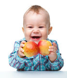 Little child with apple Royalty Free Stock Photo