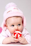 Little child baby with  ball Royalty Free Stock Images