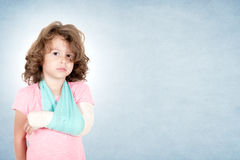Little child with broken hand Royalty Free Stock Photography
