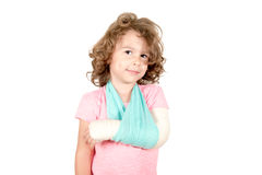 Little child with broken hand Royalty Free Stock Photos