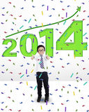 Little child celebrating a new year Royalty Free Stock Images