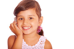 Little child with cell Stock Image