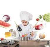 Little child chef Stock Photography