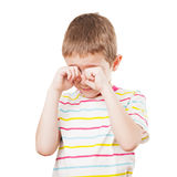 Little child crying Stock Photo