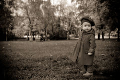 Little child discovering the world Royalty Free Stock Images