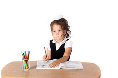 Little child drawing Stock Photos