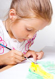 Little child drawing Royalty Free Stock Photos