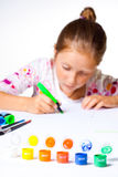 Little child drawing Stock Image