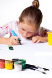 Little child drawing Stock Photo