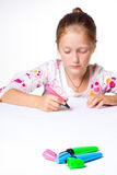 Little child drawing Royalty Free Stock Images