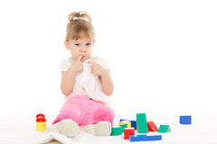 Little child with educational toys. Stock Photography