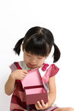Little child with gift box Royalty Free Stock Photography