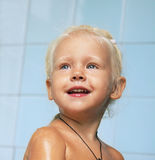 Little child girl in bath Royalty Free Stock Image