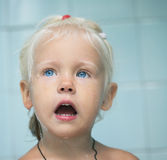 Little child girl in bath Royalty Free Stock Photos