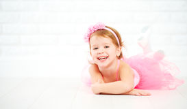Little child girl dreams of becoming  ballerina Royalty Free Stock Images