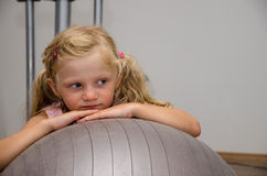 Little child in gym Royalty Free Stock Image