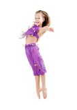 Little child gymnast. About 7 years old. Royalty Free Stock Photo