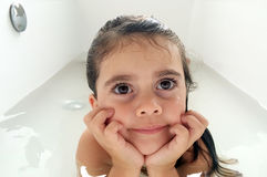 Little child having a bath Stock Photography