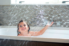 Little child having a bath. Little child (girl age 05) having a bath. concept photo hygiene and cleaning Royalty Free Stock Image