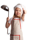 Little child with ladle Stock Image