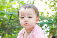 Little child looking at camera Stock Photography