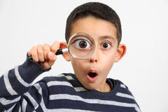Little child looking with surprise Royalty Free Stock Photos