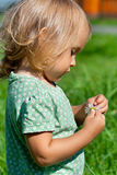 Little child on the meadow Stock Photo