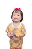 Little child with money Stock Image