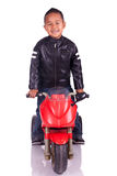 Little child on motorcycle Royalty Free Stock Photo