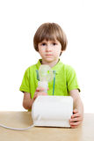 Little child with nebulizer Royalty Free Stock Photos